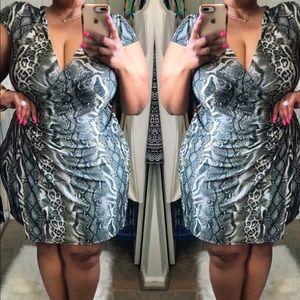 Print Gray Dress